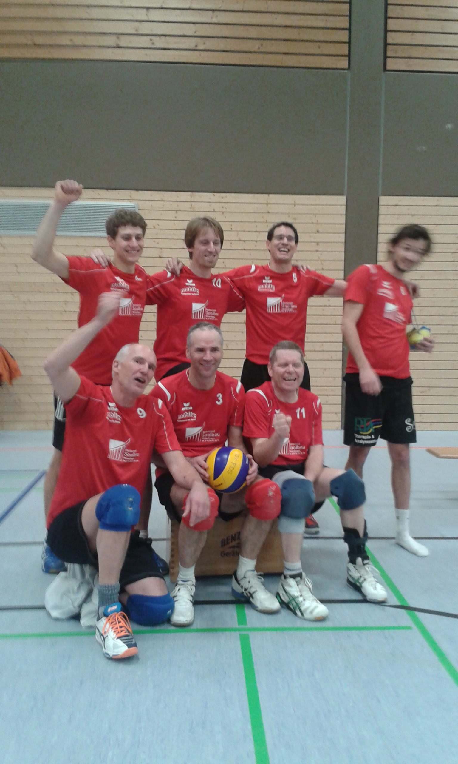 Hinten: Paul, Holger, Timo. Martin Vorne: Rainer, Stefan, Charly